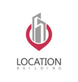 building location logo vector image vector image