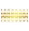 car golden halftone pattern vector image vector image
