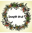 Card with floral wreath vector image vector image