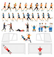 cartoon character set of soccer man players in vector image vector image