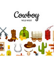 cartoon wild west background with place for vector image vector image