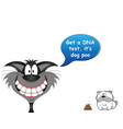 cat blaming dog for stinking mess vector image vector image
