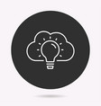 cloud technology - icon vector image vector image