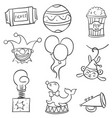 collection stock of various object circus doodles vector image vector image