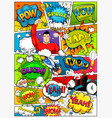 comic book page divided by lines with speech bubbl vector image vector image