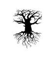 creepy dead tree silhouette vector image
