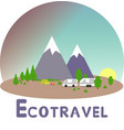 ecotravel6 vector image vector image