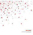 festive falling particles and confetti vector image