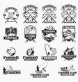 fishing logo badges vector image vector image
