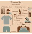 Fitness set infographics vector image