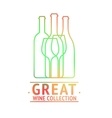 Great wine collection logo design vector image vector image