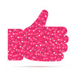 hand thumbs up red icon likes filled of vector image vector image