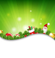 Happy Christmas Border With Sunburst vector image vector image