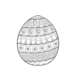 happy easter entangle egg decorated with ornament vector image