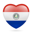 Heart icon of Paraguay vector image vector image