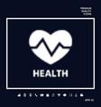 heart symbol - halftone logo vector image