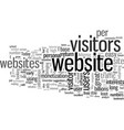 increase visitors traffic to your website vector image vector image