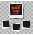 Instant Photo Blank Vintage Photo Frame vector image vector image