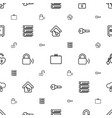 lock icons pattern seamless white background vector image vector image