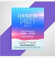lovely flyer design for christmas season vector image vector image