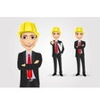 male engineer with crossed arms vector image