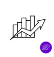 market growth icon outline style column diagram vector image vector image
