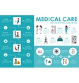 Medical care concept Hospital infographic flat web vector image