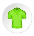 Men green polo icon cartoon style vector image vector image