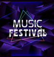 music festival triangle frame polygonal background vector image