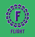 Optical illusion flight logo in round moving frame