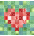 Patchwork mosaic with heart vector image