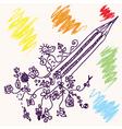 pencil concept vector image vector image