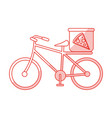 pizza bycicle shadow vector image vector image