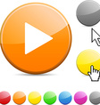 Play glossy button vector image vector image