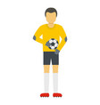 player with ball icon flat style vector image