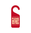 please do not disturb door tag icon vector image vector image
