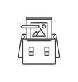 Portfolio line icon concept portfolio
