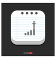 progress graph icon gray icon on notepad style vector image
