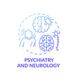 psychiatry and neurology blue gradient concept vector image