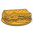 sandwich food icon image vector image