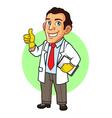 Scientist Cartoon Mascot vector image vector image