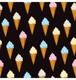 Seamless background Ice cream waffle cone vector image vector image