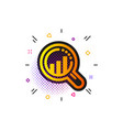 seo analysis icon web targeting chart sign vector image vector image