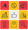 set of 9 commerce icons includes withdraw money vector image vector image
