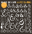 Set of hand drawn ampersands Ink vector image vector image