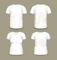 set of isolated sportswear t-shirts vector image vector image