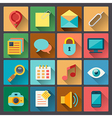 set of web icons in flat design style vector image vector image
