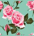 shabchic pink roses vintage pattern vector image vector image