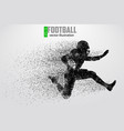 silhouette of football player vector image vector image