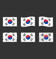 south korea flag official vector image